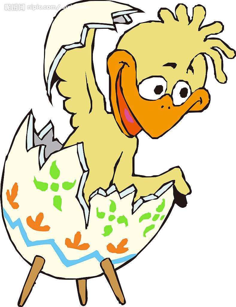 鸭子破壳简笔画